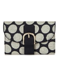 Ruby Shoo Garda Black Spots Polka Dot Textile Purse