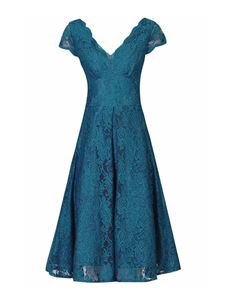 Clarence and Alabama Belle Turquoise Lace Dress