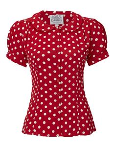The Seamstress of Bloomsbury Jive Blouse - Various Colours/Spots