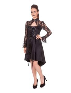 Banned Black Betty Lace Gothic Black Dress