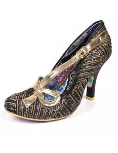 Irregular Choice Bubbles 1920s Vintage Heels Shoe Black
