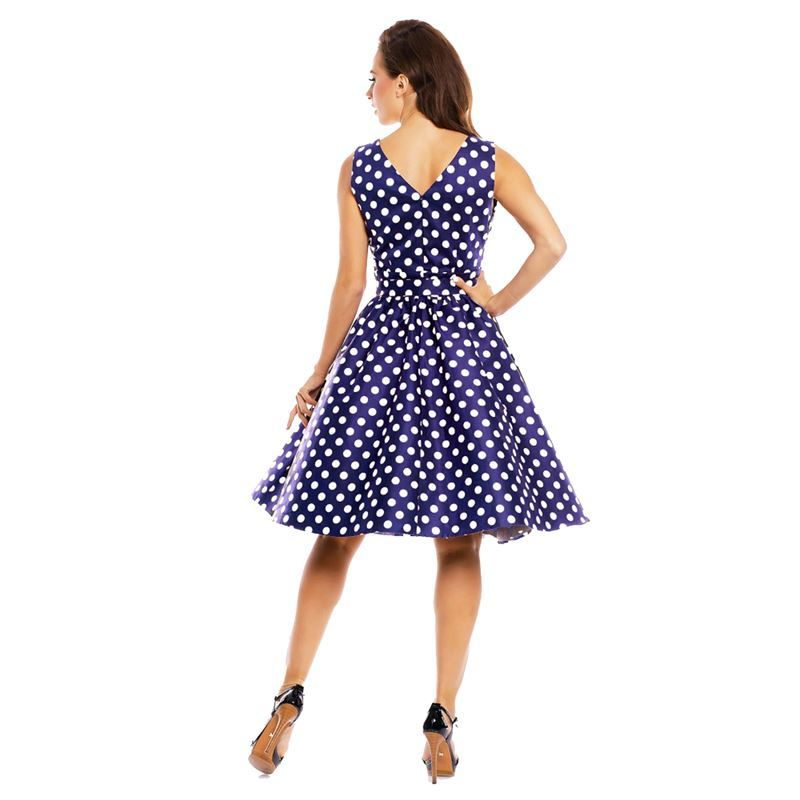 Dolly and Dotty May Polka Dot Blue Swing Dress