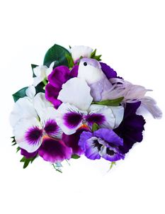 Guns N Posies Purple Pansies & Bird Hair Flower