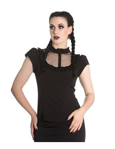 Spin Doctor Vanessa Gothic Goth Alternative Top Blouse Black