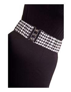 Hell Bunny 50's Gingham Check Elasticated Belt
