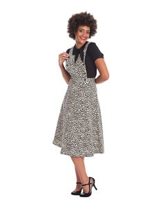 Banned Retro Wild Child Leopard 50s Pinafore Dress