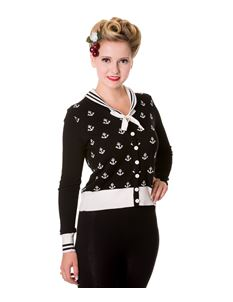 Banned Apparel Retro Anchor Plus Size Cardigan