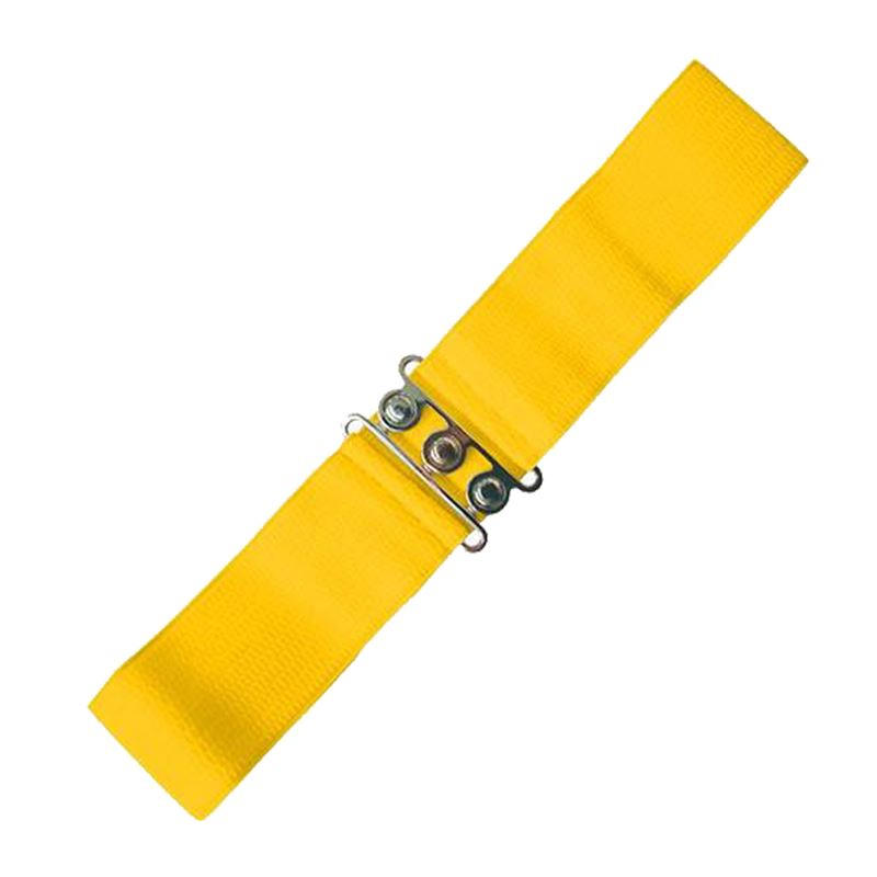 Dancing Days Vintage Elasticated Stretch Yellow Belt