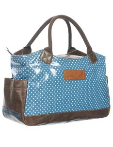 Brakeburn Sythentic Leather Polka Dot Hand Bag Brown/Blue