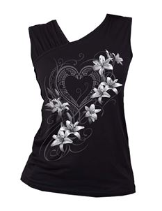 Spiral Direct Pure of Heart Gathered Shoulder Vest Top