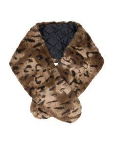 Pia Rossini Vintage Style Leopard Faux Fur Scarf