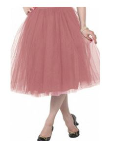 Clarence and Alabama 'Carrie' Tulle Skirt Pink Rose