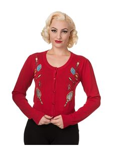 Banned Apparel Romantic Lipstick Makeup Cardigan