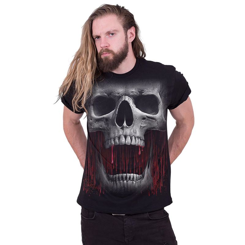 Spiral Direct Mens Death Roar Black T Shirt