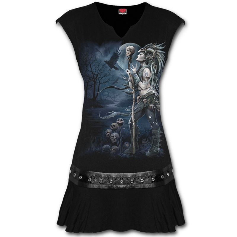 Spiral Direct Raven Queen Alternative Mini Dress Top