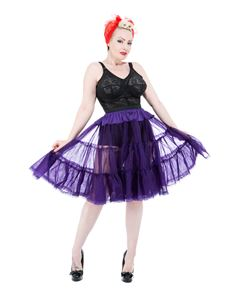 "H&R London Short 23"" Length Purple Jive Petticoat"