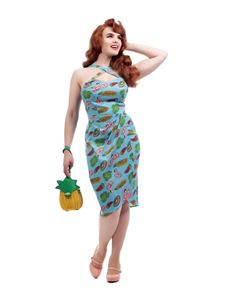 Collectif Mahina Pool Party Pink Flamingo Sarong Dress