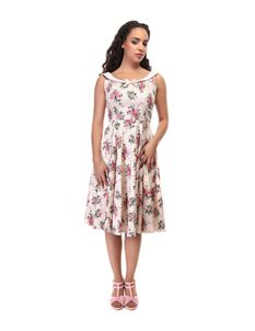 Collectif Maddison 40s Style Floral Swing Dress
