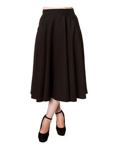 Banned Gracie 50s Style Midi Circular Rockabilly Skirt
