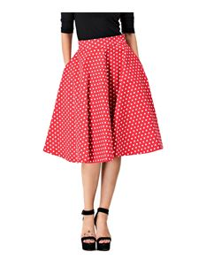 Dolly & Dotty Shirley Red Polka Dot Skirt