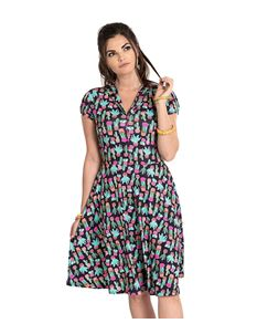 Hell Bunny Chiquita Cactus Mexico Tea Dress