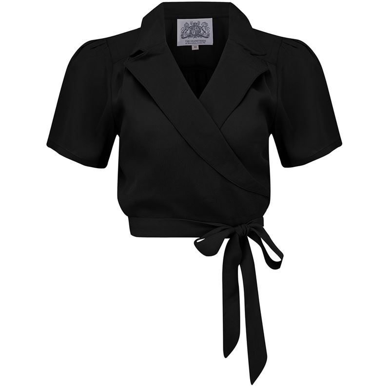 The Seamstress of Bloomsbury Greta Blouse - (Black, 40's Red or Cream)