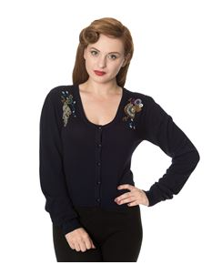 Dancing Days Proud Peacock Night Blue Cardigan