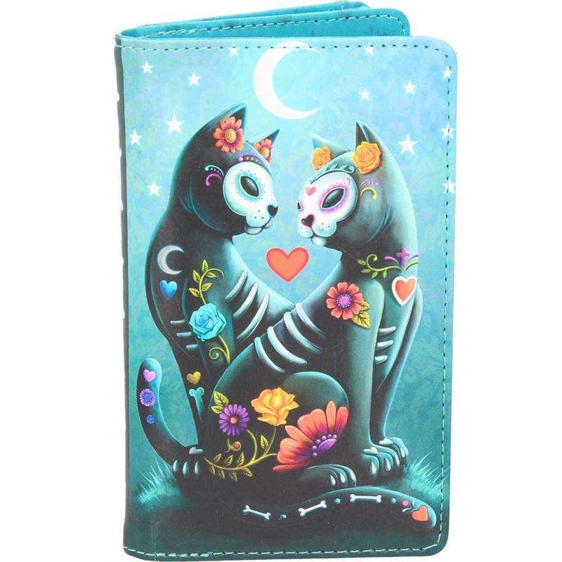 Nemesis Now Starry Night Day Of The Dead Cat Purse