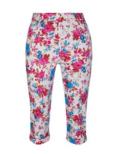 Lindy Bop Kendra Pink Blossom Cropped Capri Trousers