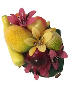 Midcentury Missy Fruit And Flower Hair Clip