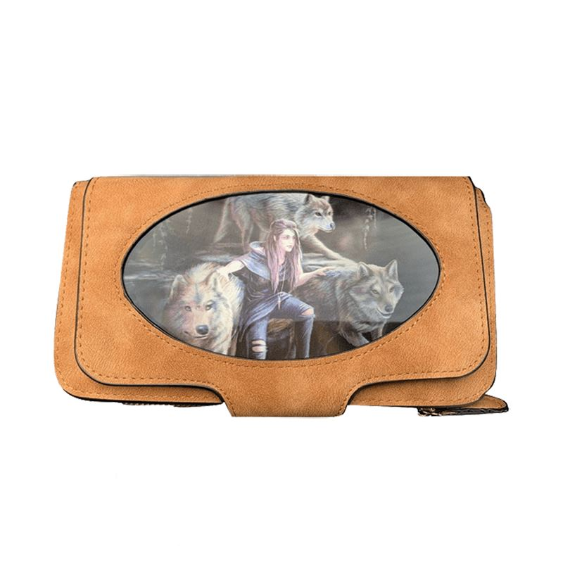 Anne Stokes 3D Lenticular Power Of Three Wolf Purse