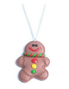 Delphi Delight's Gingerbread Man Necklace