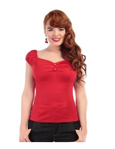 Collectif Mainline Dolores Top Red