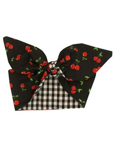 Gas Axe Inc Black Cherry Gingham Rockabilly Head Scarf