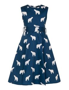 Little Lady Vintage Polar Bear Hepburn Style Dress