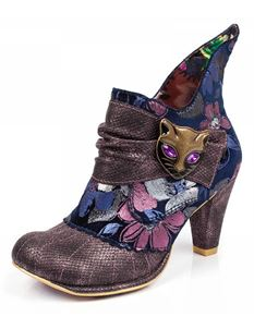 Irregular Choice Miaow Boot In Purple