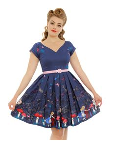 Lindy Bop Aria Dress Alice In Wonderland