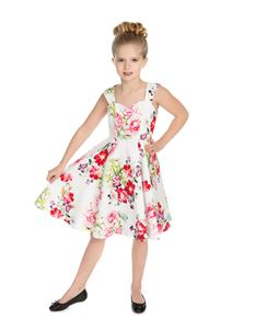 Hearts & Roses Girl's Multi Summer Floral Swing Dress
