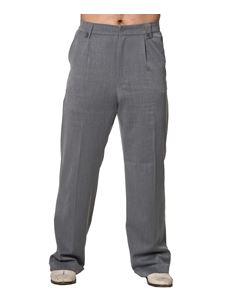 Banned Get In Line Grey 40s 50s Style Turn Up Trousers