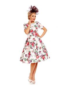 Dolly & Dotty Darlene White Floral Dress