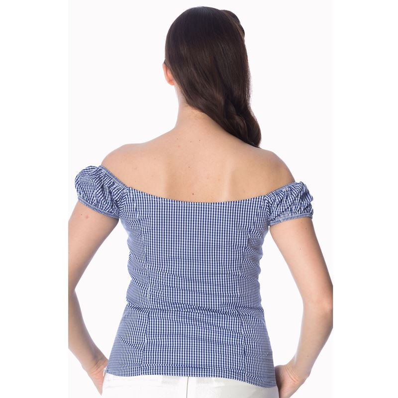 Dancing Days Summer Loving Gingham 50s Style Top