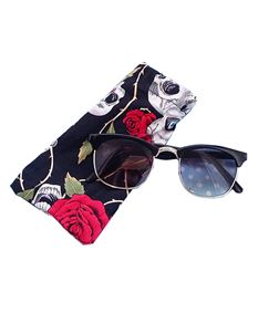 Guns N Posies Black & Silver Retro Frame Sunglasses