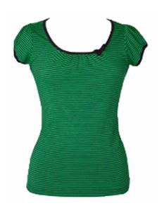 Friday On My Mind Sailor Nautical Striped Jersey Green Top