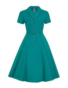 Collectif Vintage Caterina 50s Style Shirt Swing Dress