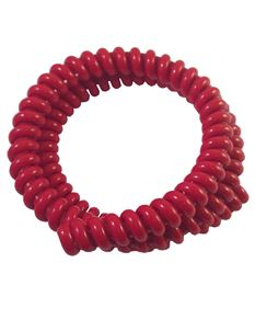 1940s Style Vintage Red Telephone Cord Bangle