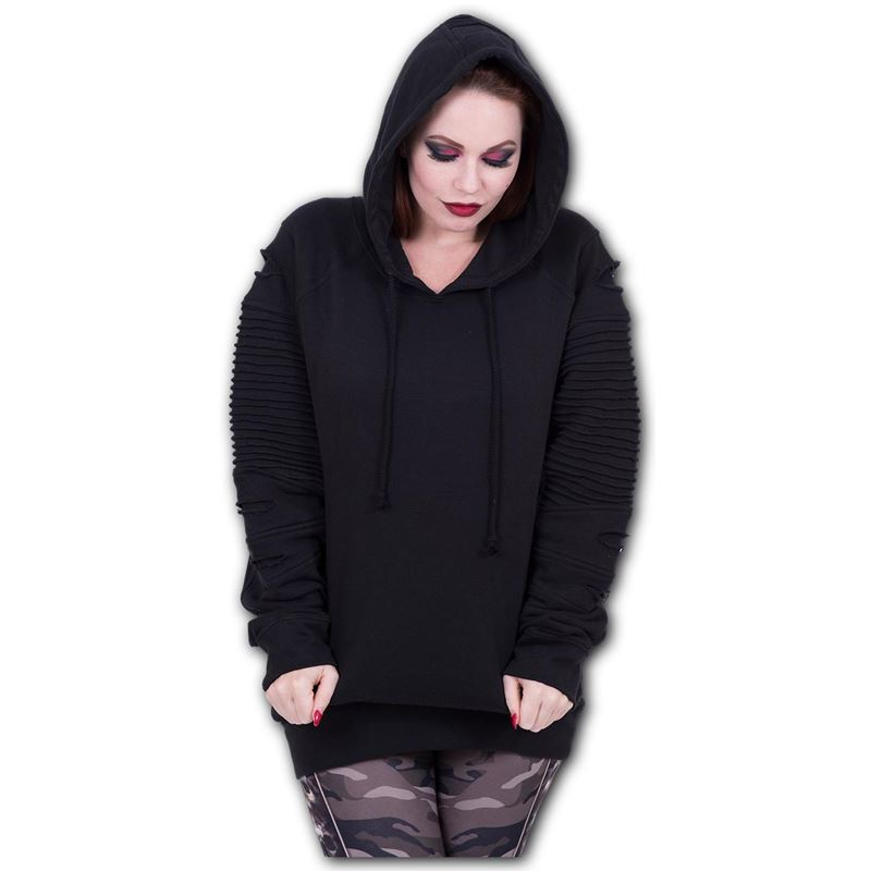 Spiral Direct Gothic Rock Alternative Goth Black Hoodie