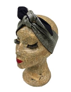 Sam Mercer Snakeskin Faux Leather Headscarf Pinup