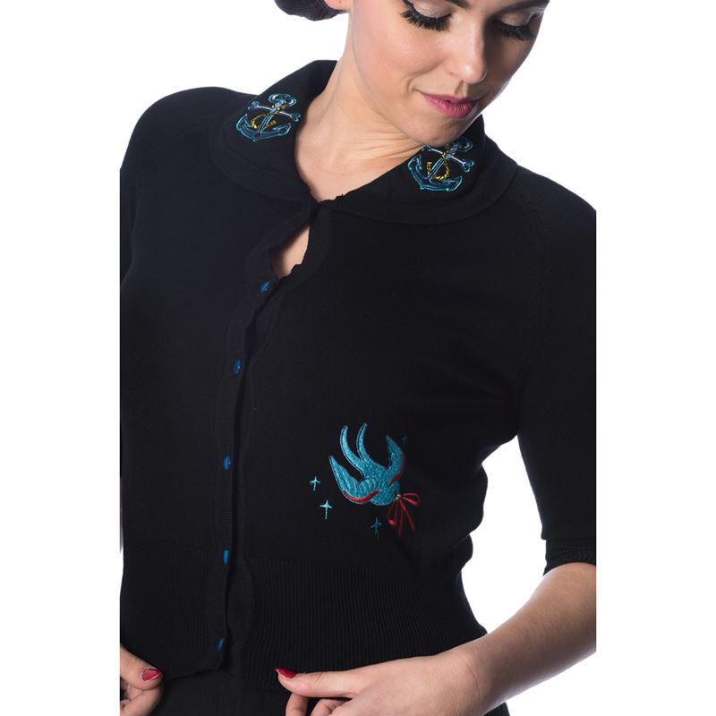 Dancing Days Free As A Bird Swallow Anchor 50s Cardigan