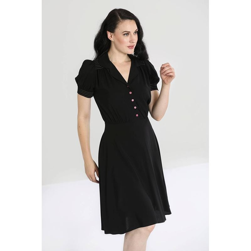 Hell Bunny Camille 40s 50s Vintage Style Tea Dress