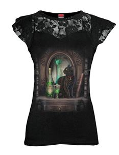 Spiral Direct Absinthe Cat Lace Cap Alternative Top